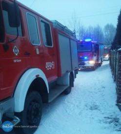 Pożar wBrzózie Stadnickiej