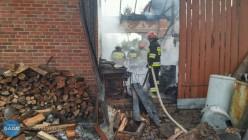 Pożar budynku gospodarczego wMarkowej