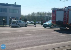 Zderzenie dwóch samochodów osobowych