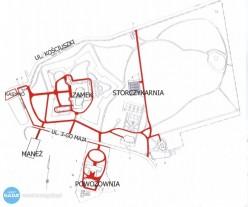 Odśnieżanie na terenie Muzeum-Zamku