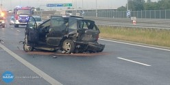 Jedna osoba ranna wwypadku na A4