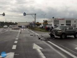 Zderzenie ciężarówki ztoyotą