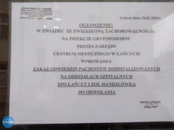 Zakaz odwiedzin wszpitalu