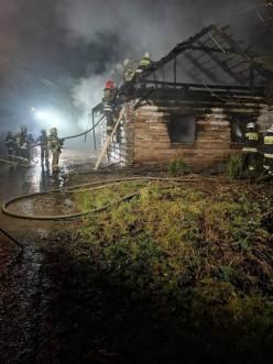 Strażak został ranny podczas akcji