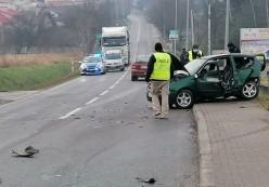 Jedna osoba ranna wwypadku