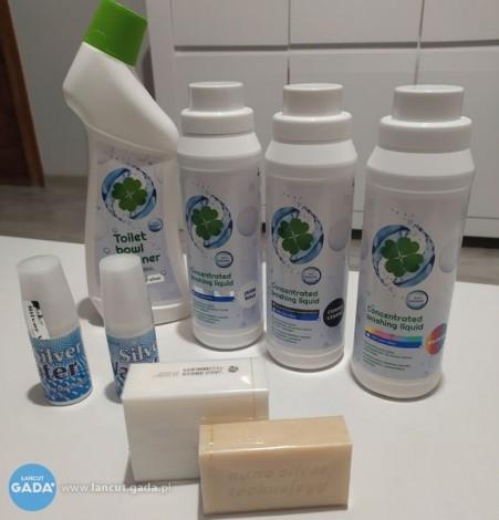 Antybakteryjne mydło, woda z nanosrebrem i inne