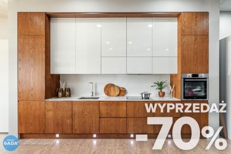 Rabat - 70%! Meble kuchenne - wyprzedaż - Kuchnia biało-drewniana