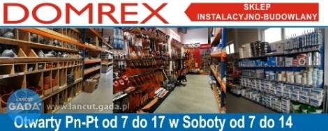 DOMREX - Sklep Instalacyjno-Budowlany, Białobrzegi 3G tel 661 464 576