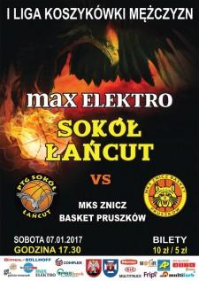 max elektro Sokół Łańcut - MKS Znicz Basket Pruszków