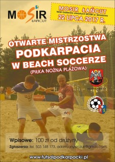 Mistrzostwa Podkarpacia wBeach Soccerze