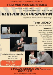 """Teatr """"Sioło"""" spektakl pt.""""Requiem dla gospodyni"""""""