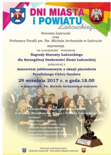 Wręczenie nagrody Starosty Powiatu Łańcuckiego, Koncert Jubileuszowy Chóru Gaudete
