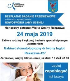 """Dzień otwarty """"Profilaktyka stomatologiczna, profilaktyka przeciwrakowa"""""""