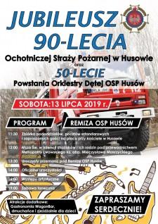 Jubileusz 90-lecia OSP i50-lecie powstania orkiestry wHusowie