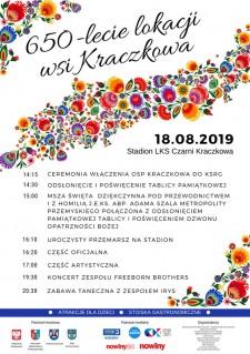 650-lecie lokacji wsi Kraczkowa