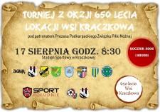 Turniej zokazji 650 lecia lokacji wsi Kraczkowa