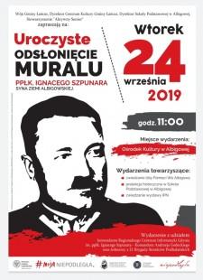 Odsłonięcie muralu ppłk. Ignacego Szpunara