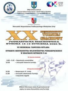 XX Międzynarodowy Turniej Szachowy-Podkarpacka Szachownica