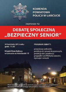 """""""BEZPIECZNY SENIOR""""-debata społeczna"""