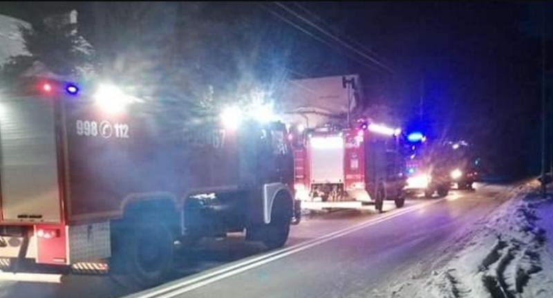 Uratowano osobę zpożaru